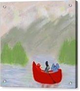 Let's Go Canoeing  Acrylic Print