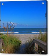 Lets Go To The Beach Acrylic Print by Susanne Van Hulst