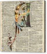 Letter A Monogram Acrylic Print