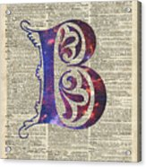 Letter B Monogram Acrylic Print