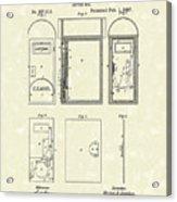 Letter Box 1887 Patent Art Acrylic Print
