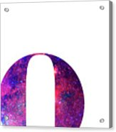 Letter O Galaxy In White Background Acrylic Print