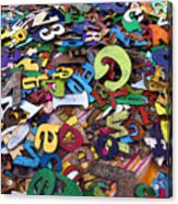 Letters And Numbers Acrylic Print
