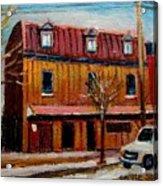 Levine Brothers Plumbers Montreal Acrylic Print