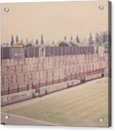 Leyton Orient - Brisbane Road - Buckingham Road Terrace South Goal 1 - August 1986 Acrylic Print