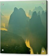 Li River At Dawn  Acrylic Print