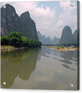 Li River At Xingping Acrylic Print