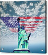 Liberty And Flag Acrylic Print