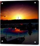 Liberty Bay Sunset Acrylic Print