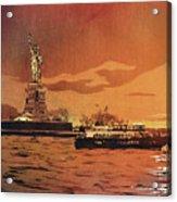 Liberty Island- New York Acrylic Print