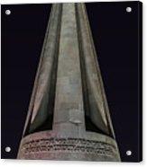 Liberty Memorial At Night Acrylic Print