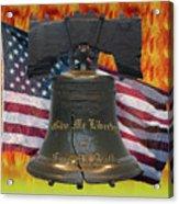 Liberty On Fire Acrylic Print