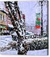 Liberty Square In Winter Acrylic Print