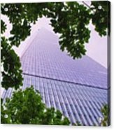Liberty Tower Framed By Trees Acrylic Print