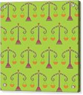 Libra Zodiac Sign Pattern Acrylic Print