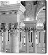 Library Of Congress 2 Black And White Acrylic Print