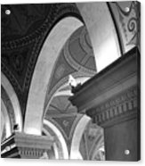 Library Of Congress 3 Black And White Acrylic Print