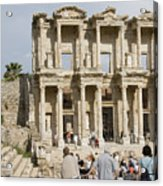 Library Ruins At Ephesus Turkey Acrylic Print