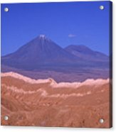 Licancabur Volcano Seen From The Atacama Desert Chile Acrylic Print