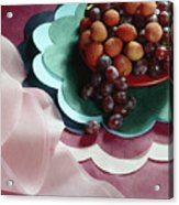 Lichees And Grapes Acrylic Print