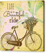 Life Is A Beautiful Ride Acrylic Print