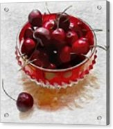 Life Is A Bowl Of Cherries Acrylic Print