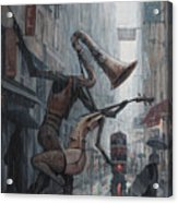 Life is  dance in the rain Acrylic Print