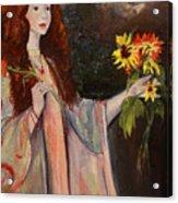 Life Is Fragile Handle With Flowers Acrylic Print
