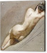 Life Study Of The Female Figure Acrylic Print by William Edward Frost