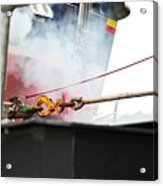 Lifeboat Chocks Away  Acrylic Print by Terri Waters