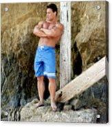 Lifeguard At El Matador Acrylic Print