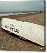Lifeguard Boat Ocean City, Nj Acrylic Print