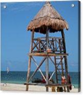 Lifeguard Chair - Riviera Maya Mexico Acrylic Print