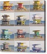 Lifeguard Houses Acrylic Print