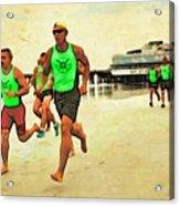 Lifeguard Runners Acrylic Print