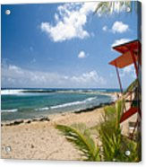 Lifeguard Station On The Beach Poipu Beach Kauai Hawaii Acrylic Print