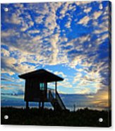 Lifeguard Station Sunrise Acrylic Print