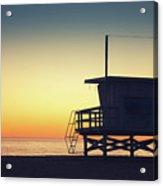 Lifeguard Tower At Sunset Acrylic Print