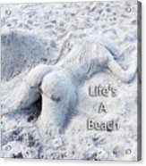 Life's A Beach By Sharon Cummings Acrylic Print