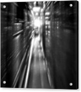 Light At The End Of The Tunnel 1 - Black And White Acrylic Print