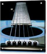 Light Blue Guitar 13 Acrylic Print