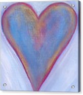 Light Blue Heart Acrylic Print