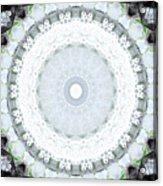 Light Blue Mandala- Art By Linda Woods Acrylic Print