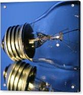 Light Bulb - Blue Acrylic Print