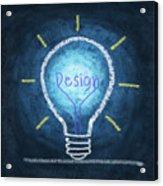 Light Bulb Design Acrylic Print