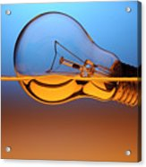 Light Bulb In Water Acrylic Print