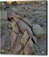 Light Fading On Valley Of Fire Acrylic Print