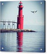 Red Lighthouse Acrylic Print
