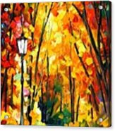 Light Of The Forest - Palette Knife Oil Painting On Canvas By Leonid Afremov Acrylic Print
