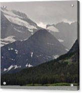 Light On Mountain Slopes Acrylic Print